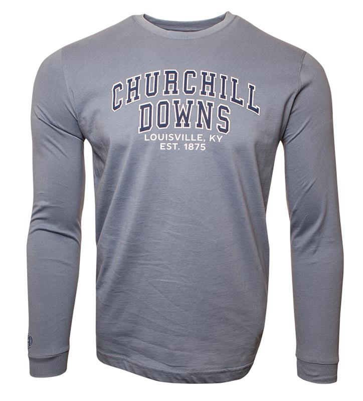 Churchill Downs Long-Sleeve Block Tee,ST48-CSPCDOWNS#005