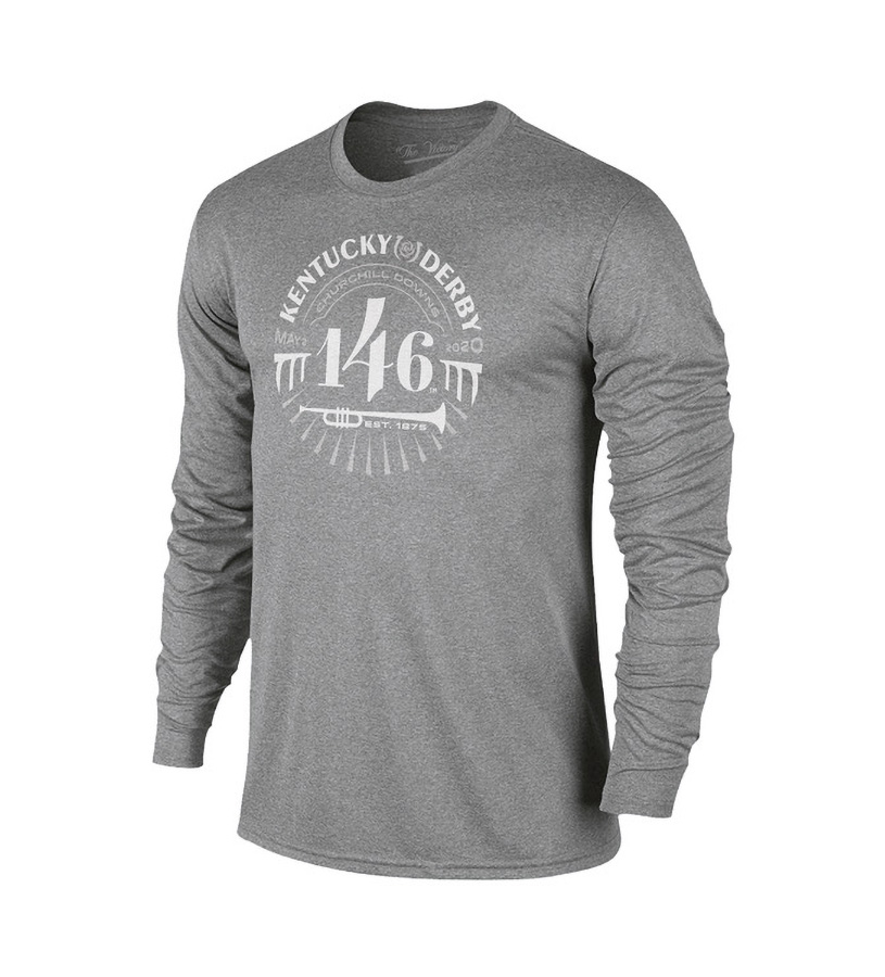 Kentucky Derby 146 Long-Sleeve Retro Tonal Tee,Retro Brands,TV402-VKD9568A-GPH