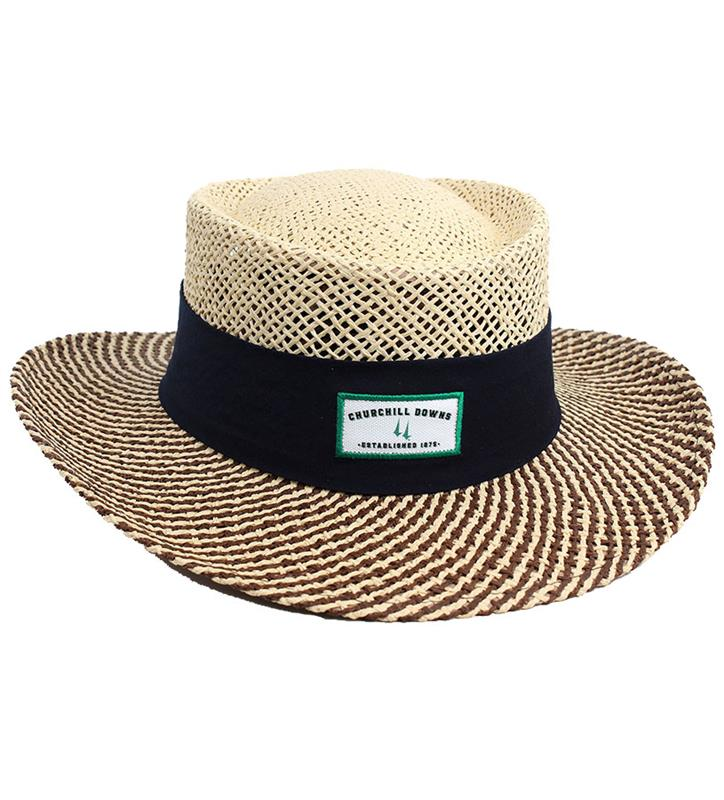 Churchill Downs Gambler Hat,S81PML-1 NATURAL NVY
