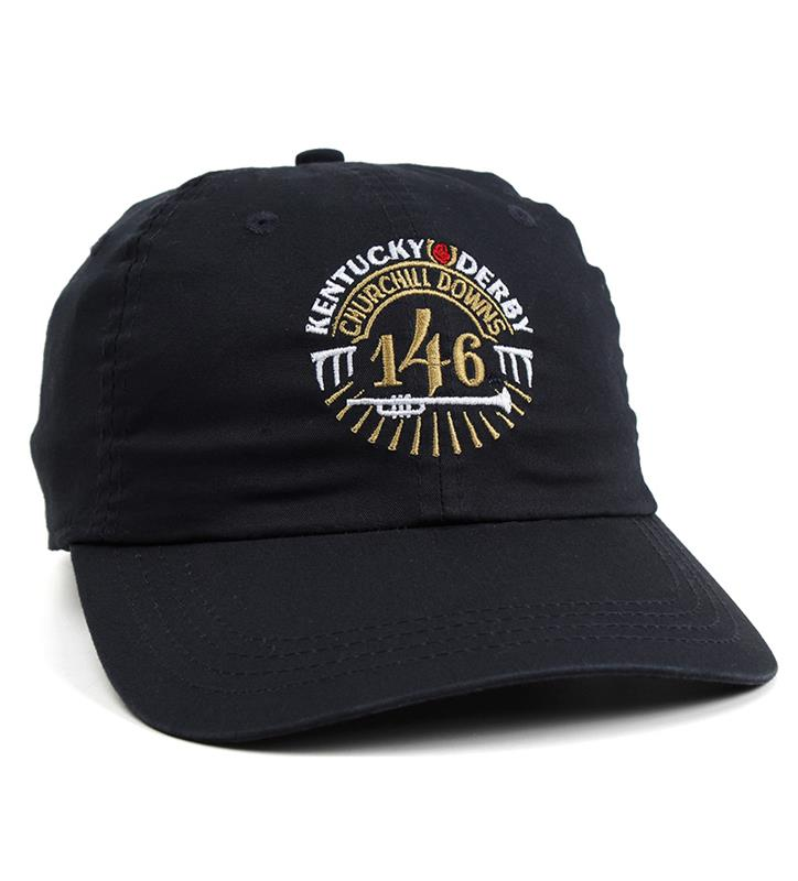 Kentucky Derby 146 Lightweight Cotton Cap,C47LGT-146LOGO