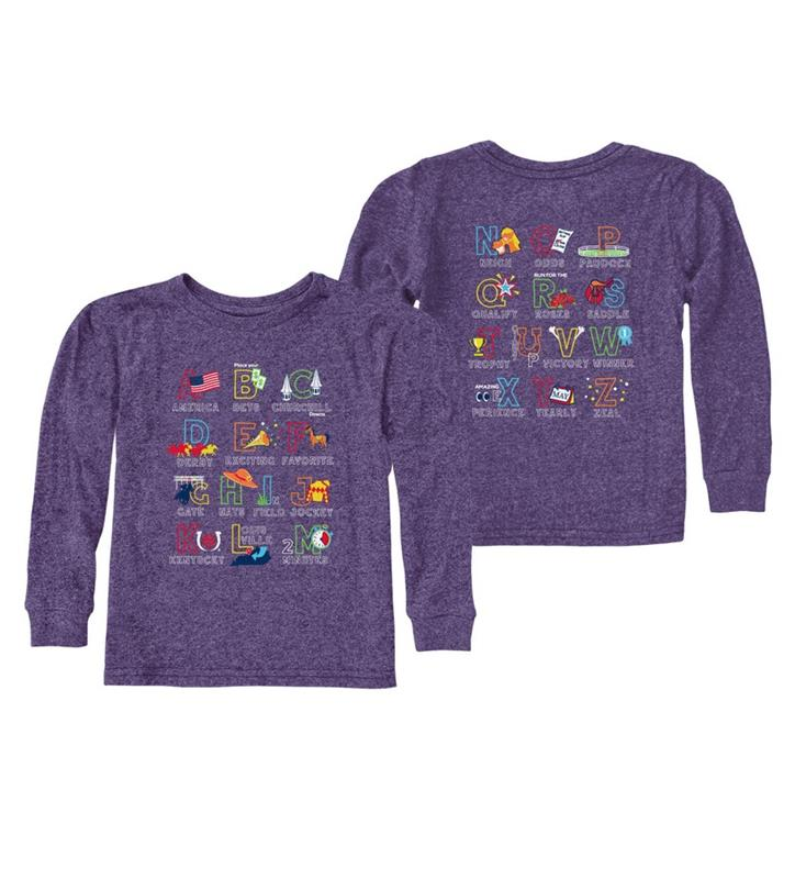 Retro ABC Toddler Long Sleeved Tee,RB424T-071019LMN16