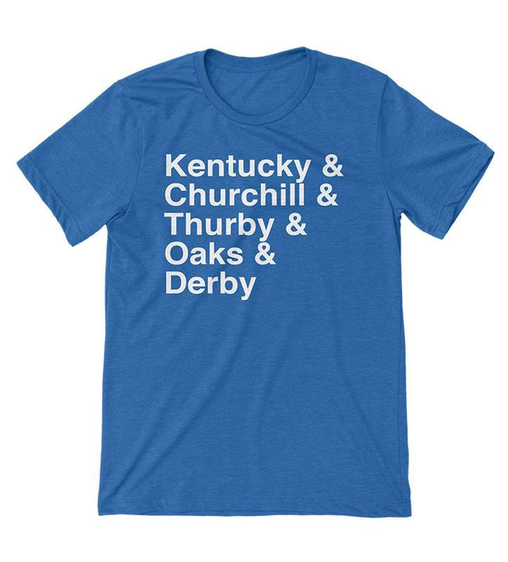 Derby Life Tee by Old Smoke Clothing,Old Smoke Clothing Co,2-ROYAL-UNISEX