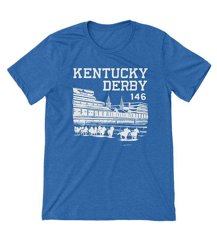 Kentucky Derby 146 Grandstand Tee by Old Smoke Clothing,Old Smoke Clothing Co,4-ROYAL-UNISEX