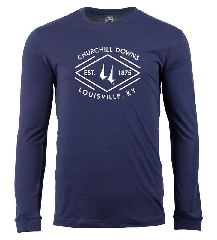 Churchill Downs Long-Sleeved Diamond Baseball Tee,ST48-CSPC-DOWNS#002