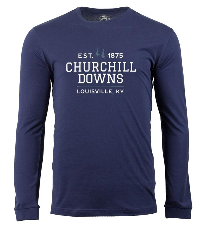 Churchill Downs Long-Sleeve Spires Block Tee,ST48-CSPCDOWNS#005
