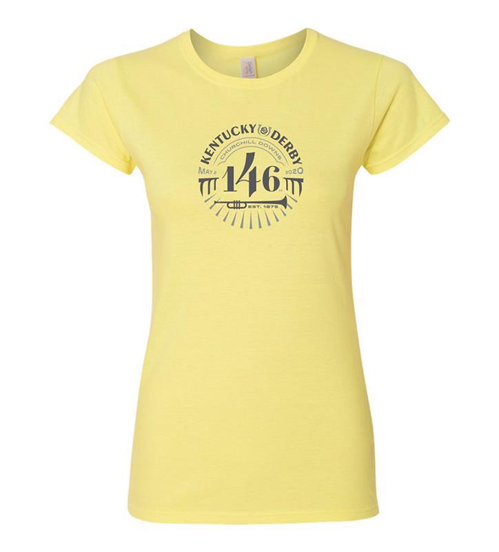 146 Kentucky Derby Ladies Event Logo Tonal Tee,KYW0043-16A