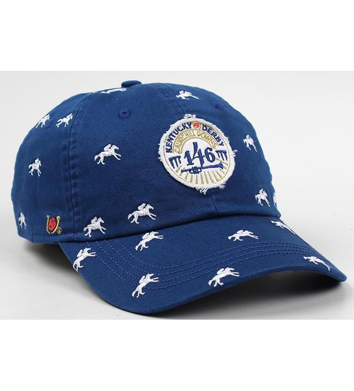 Kentucky Derby 146 Embroidered Horses Cap,E47MT2-146AH21