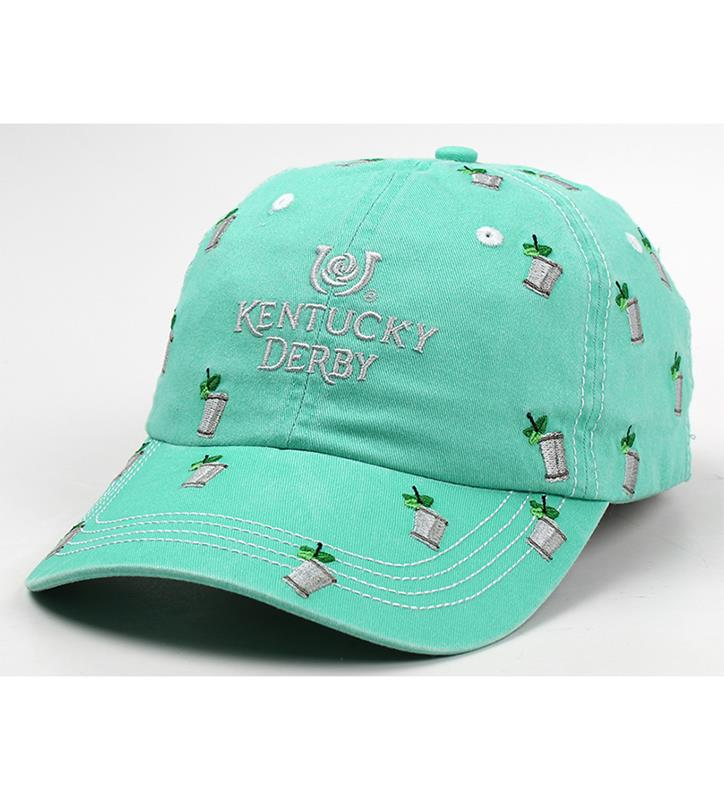 Kentucky Derby 146 Mint Juleps Embroidered Cap,E47MT2-146AH35