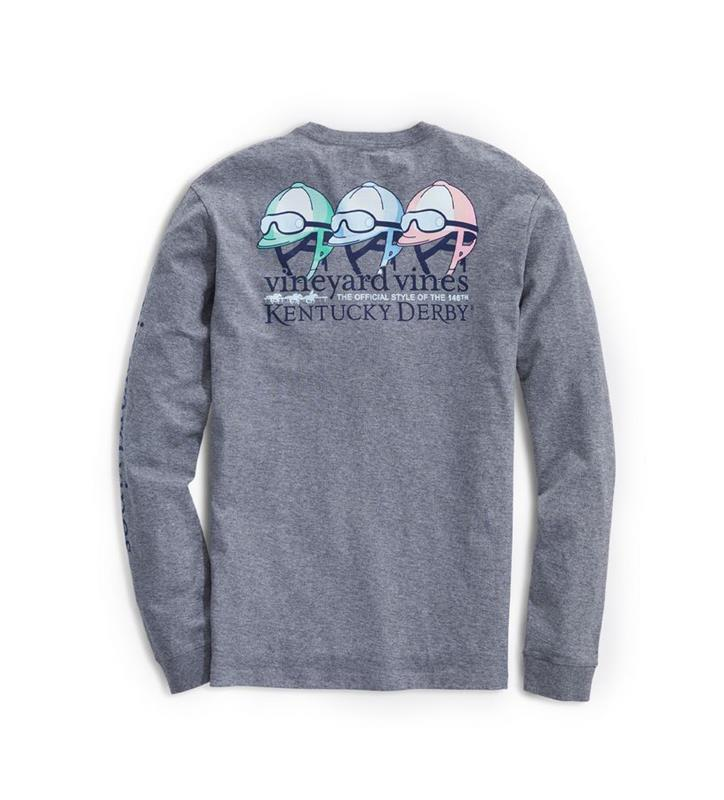 2020 Long-Sleeve Jockey Helmets Tee,Kentucky Derby 146-2020 Vineyard Vines Collection,1V011256