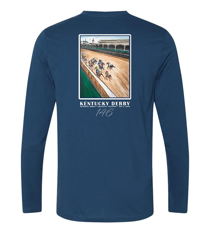 146 Art of the Derby Long-Sleeved Tee,Kentucky Derby 146-2020 Art of the Derby,AKY-M0026-3C