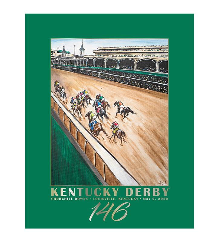 146 Art of the Derby Poster,Kentucky Derby 146-2020 Art of the Derby,AKY-N0019-9A