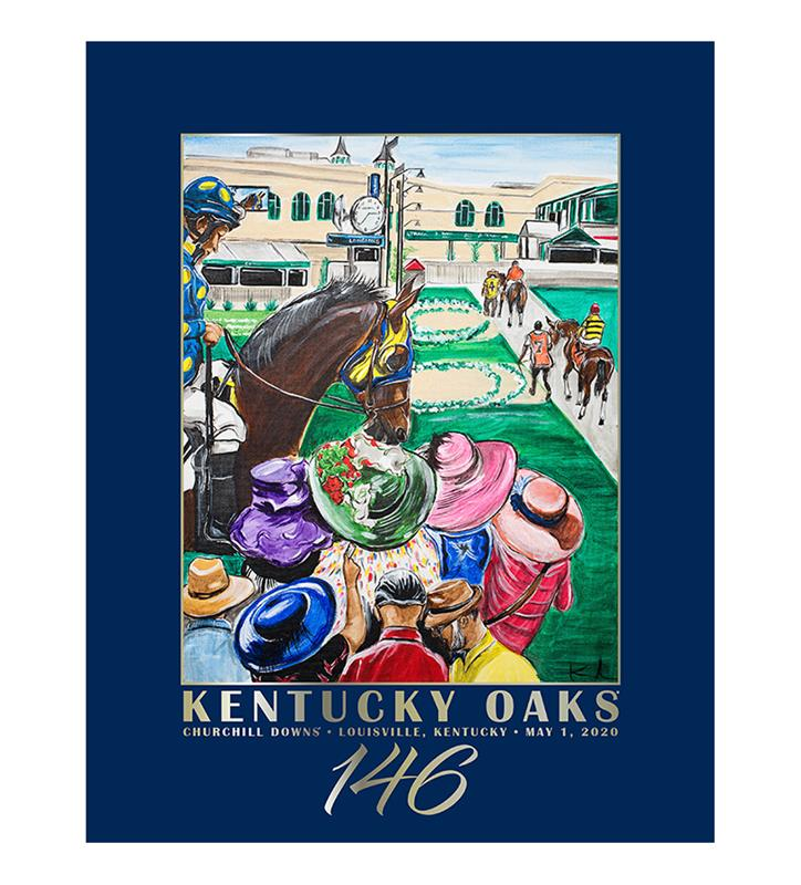 146 Art of the Oaks Poster,Kentucky Derby 146-2020 Art of the Derby,AKY-N0020-9B