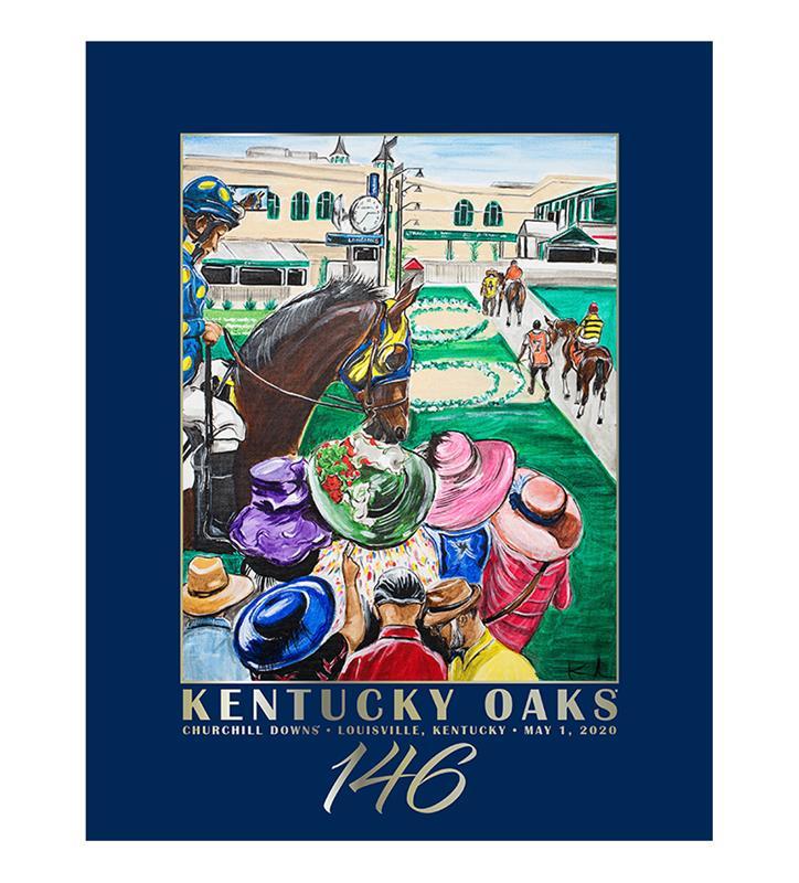 146 Art of the Oaks Poster,Kentucky Derby 146-2020 Art of the Derby,AKY-N0020-9B