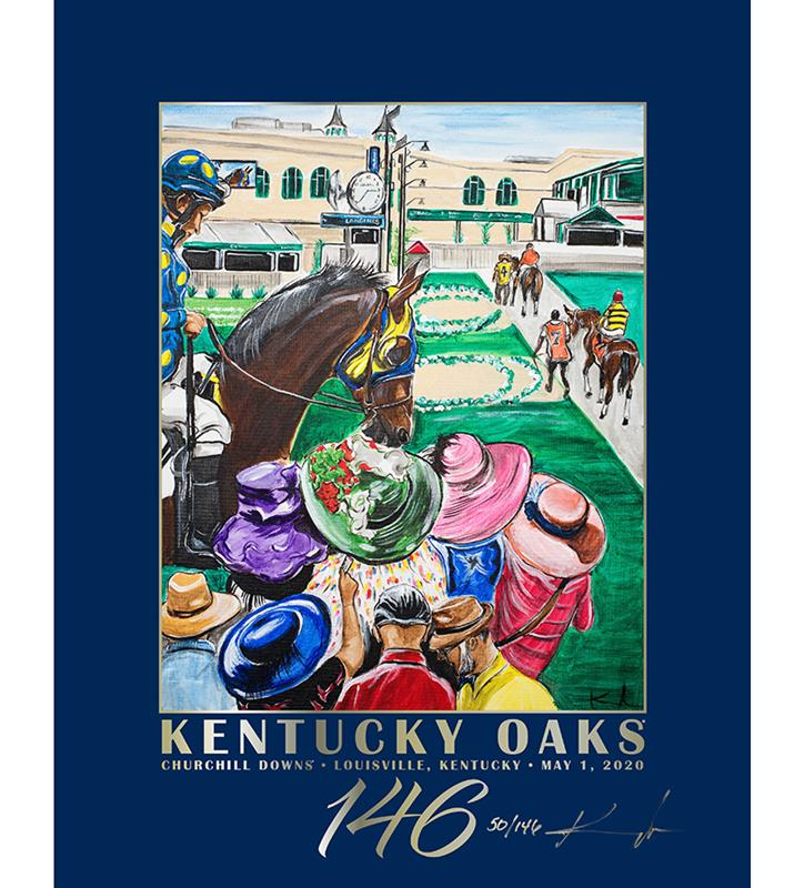 146 Art of the Oaks Limited Edition Poster,Kentucky Derby 146-2020 Art of the Derby,AKY-N0051-10B