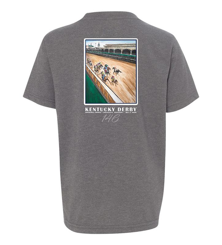146 Art of the Derby Youth Crew Tee,Kentucky Derby 146-2020 Art of the Derby,AKY-Y0045-7B